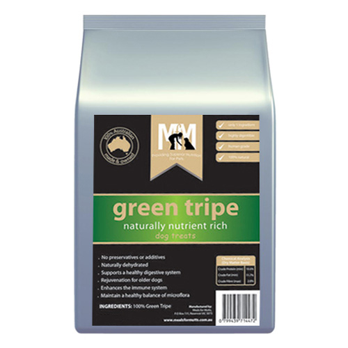 MFM Meals For Mutts Green Tripe Dog Treats  200 gm