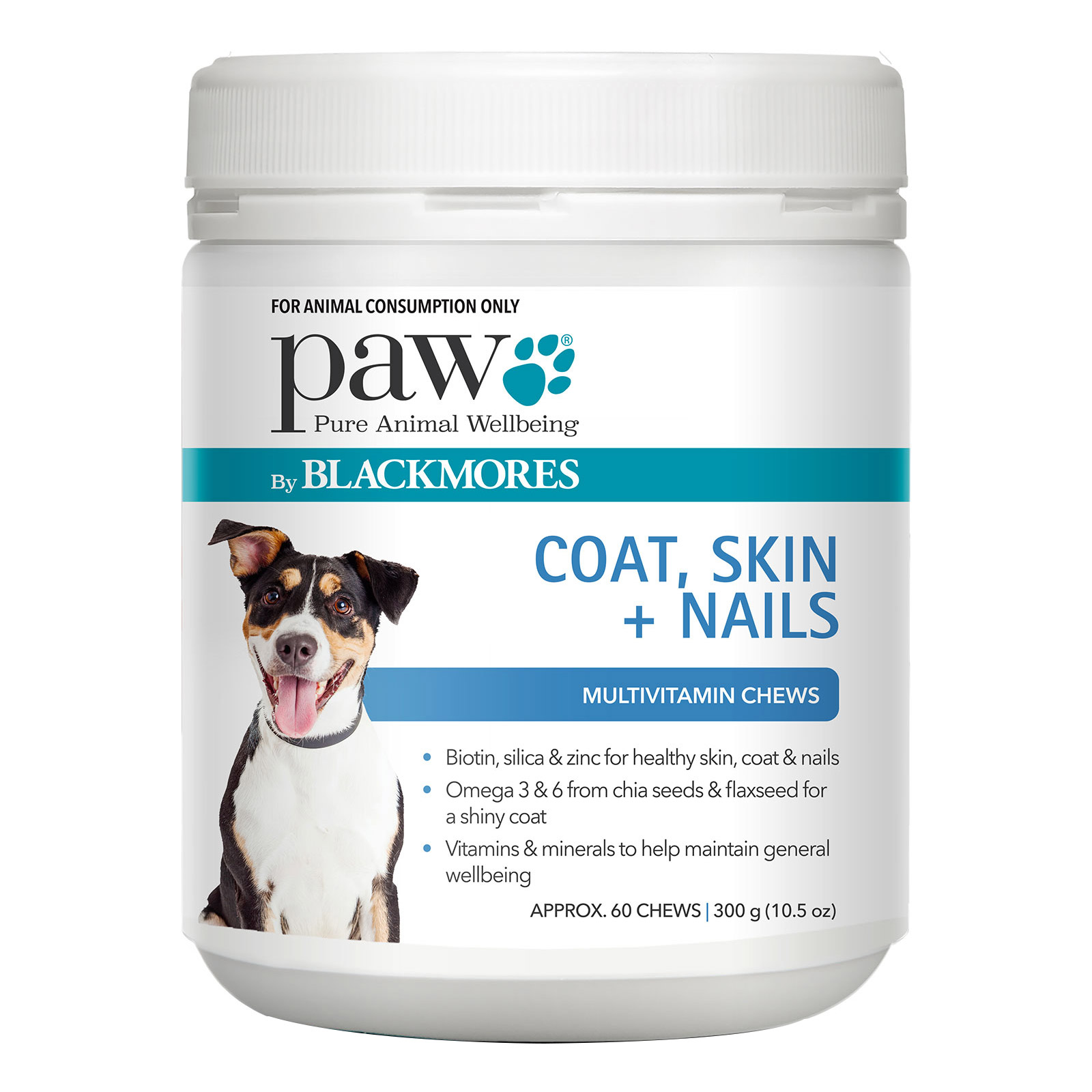 Paw Coat, Skin & Nails Multivitamin Chews 300 Gm 1 Pack