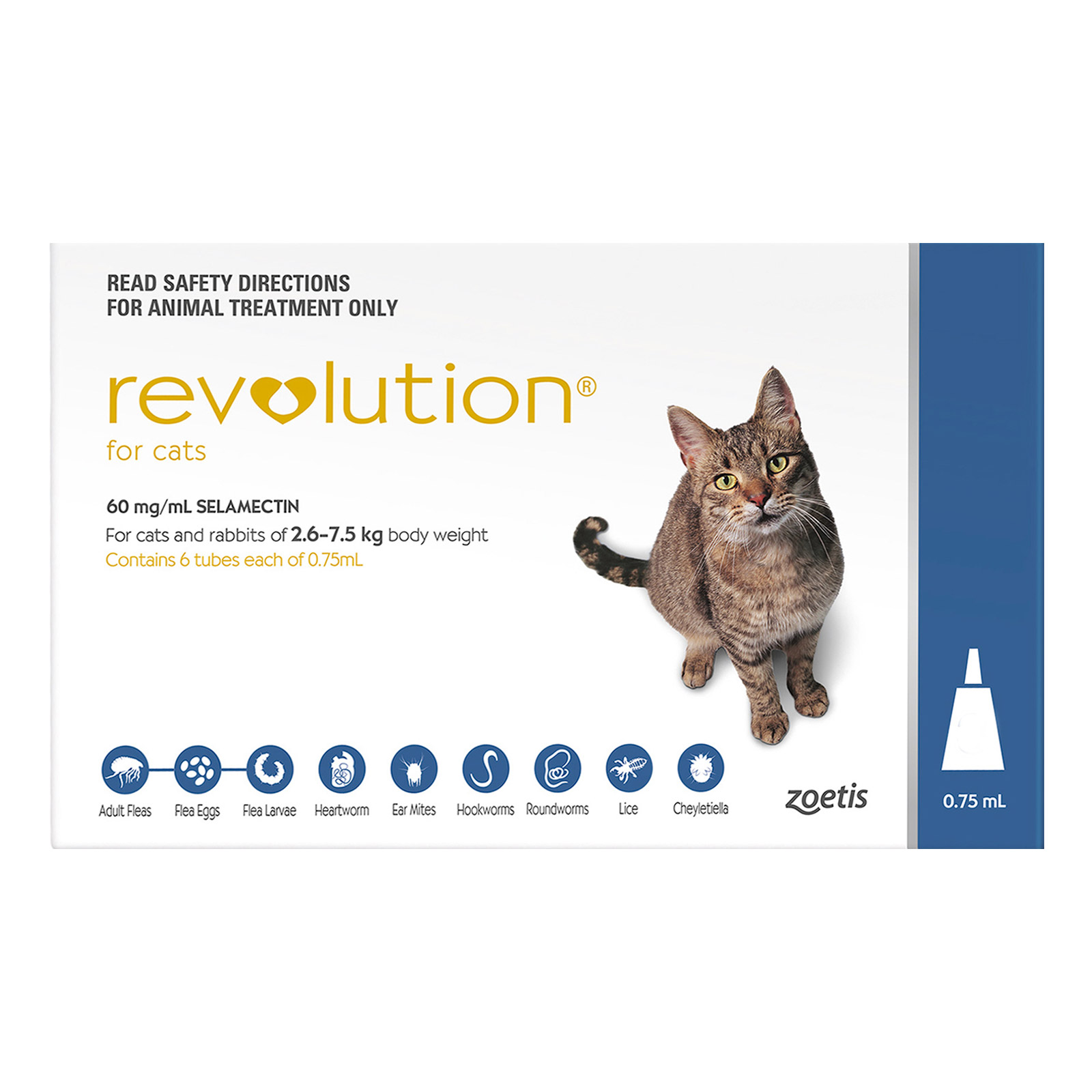 Revolution  For Cats (Blue)
