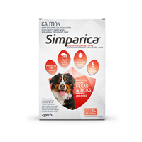 Simparica Chewables 120MG for XLarge Dogs 40.1-60KG (RED)
