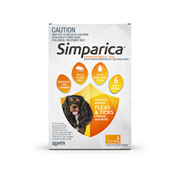 Simparica Chewables 20MG for Small Dogs 5.1-10KG (ORANGE)
