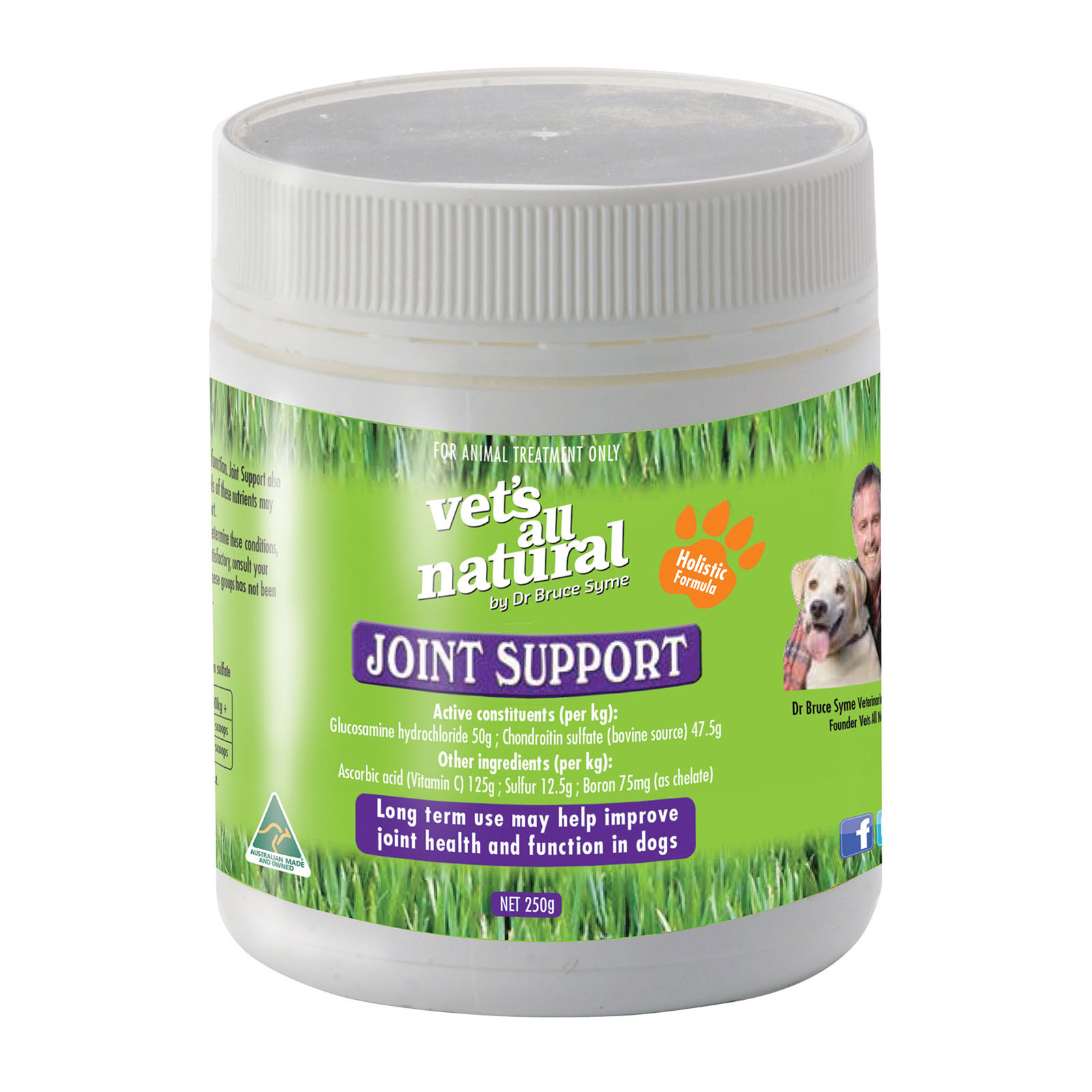 Vets All Natural Joint Support Formula   250 Gms