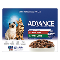 Advance Multipack Chunks in Gravy Adult Cat Wet Food Pouch