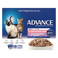 Advance Multipack Chunks in Jelly Adult Cat Wet Food Pouch