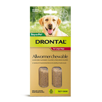 Drontal Wormers Chewables For Dogs Up To 35Kg (Red)
