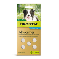 Drontal Wormers Tabs For Dogs 10Kg (Aqua)