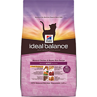 Hill's Ideal Balance Natural Chicken & Brown Rice Adult Feline Dry