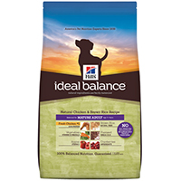 Hill's Ideal Balance Natural Chicken & Brown Rice Recipe Mature Adult Canine Dry
