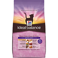 Hill's Ideal Balance Natural Chicken & Brown Rice Mature Adult Feline Dry