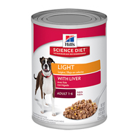 Hill's Science Diet Adult Light with Liver Canned Dog Food