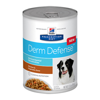 Hill's Prescription Diet Derm Defense with Chicken and Vegetable Stew Canned Dog Food