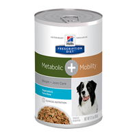 Hill's Prescription Diet Metabolic+ Mobility (Weight and Joint Care) with Vegetable and Tuna Stew Canned Dog Food