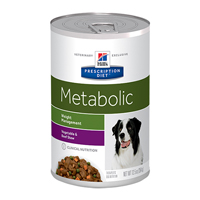 Hill's Prescription Diet Metabolic Weight Management with Vegetable and Beef Stew Canned Dog Food