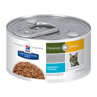 Hill's Prescription Diet Metabolic + Urinary Vegetable and Tuna Stew Canned Cat Food