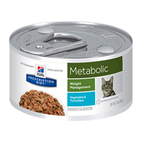 Hill's Prescription Diet Metabolic Weight Management with Vegetable and Tuna Stew Canned Cat Food