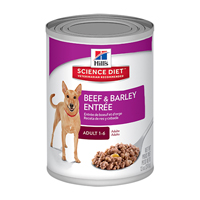 Hill's Science Diet Adult Beef and Barley Entrée Dog Canned Food